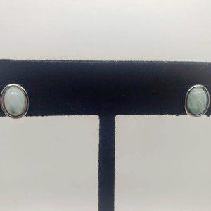 Jewelry - Blue Larimar Sterling Silver Earrings